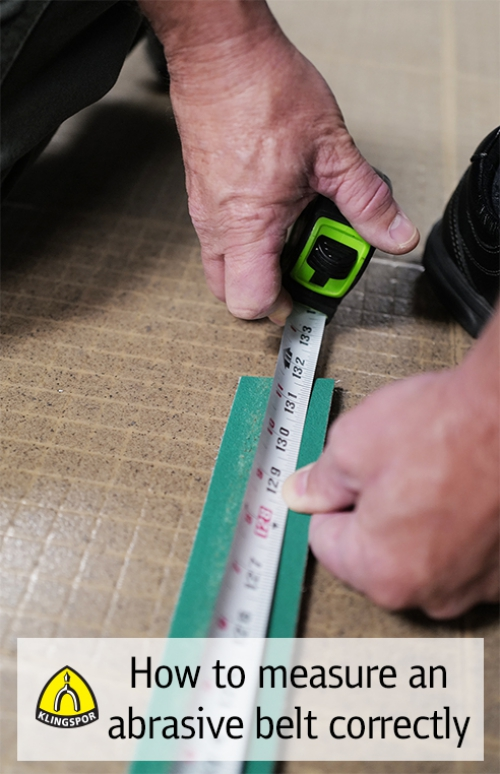 How to Measure an Abrasive Belt